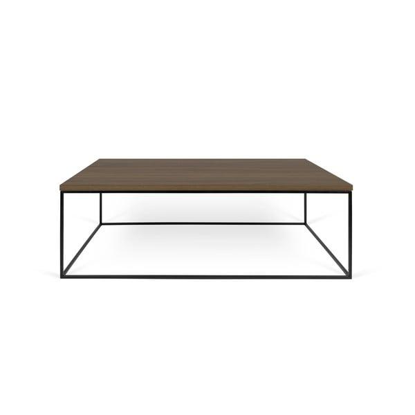 Konferenční stolek s deskou v dekoru ořechu a černýma nohama TemaHome Gleam