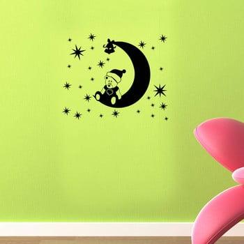 Autocolant pentru perete Teddy Moon 48x39 cm