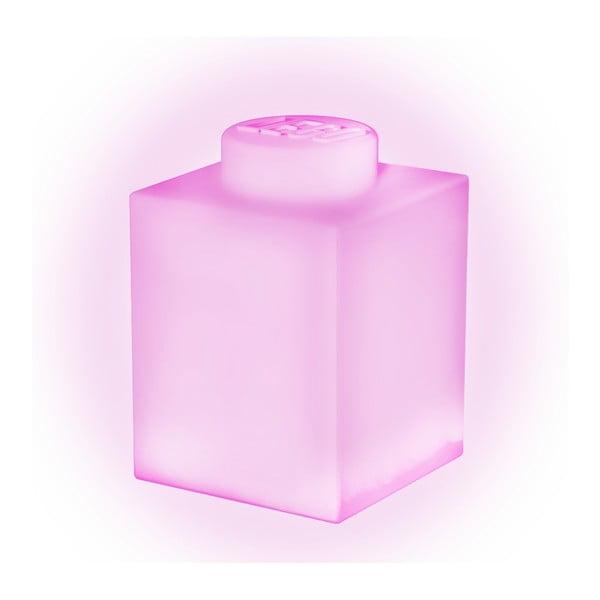 Różowa silikonowa lampka nocna LEGO® Classic Brick