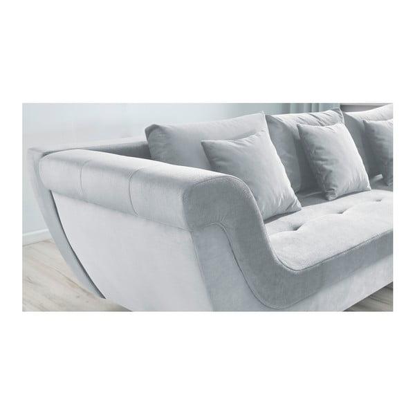 Canapea extensibilă Bobochic Paris Real, pe partea dreaptă, gri deschis