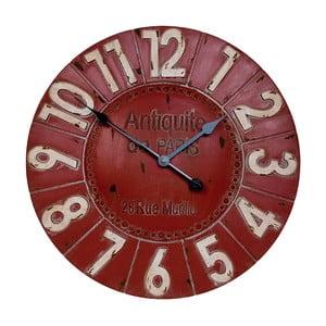 Červené nástěnné hodiny Clayre & Eef