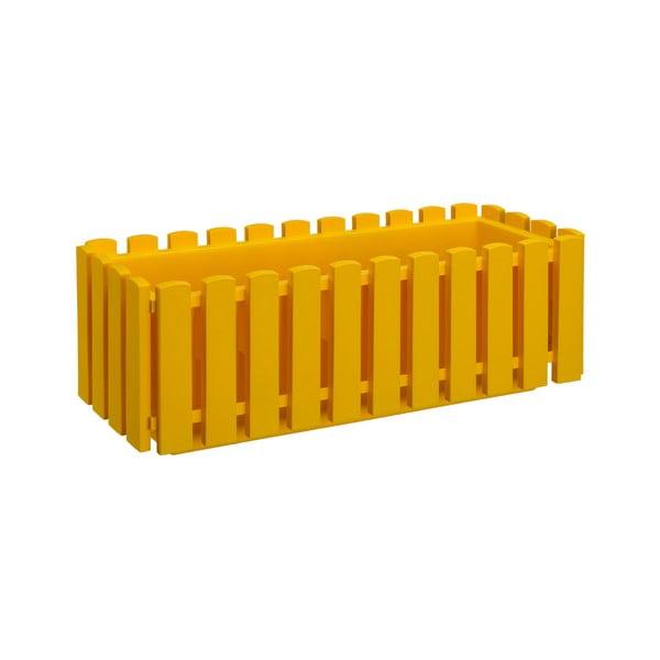 Žltý samozavlažovací črepník Gardenico Fency Smart System, dĺžka 50 cm