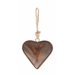 Závěsná dekorace ve tvaru srdce Antic Line, 27 cm
