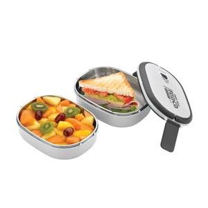Bílá dvojitá miska na oběd Pioneer Lunchbox