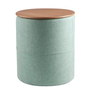 Măsuță cu placă din lemn de stejar sømcasa Leo, albastru deschis