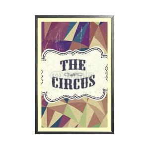 Zarámovaný plakát Retro Circus, černý rám