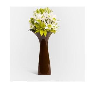 Váza Loira 26 cm, hnědá