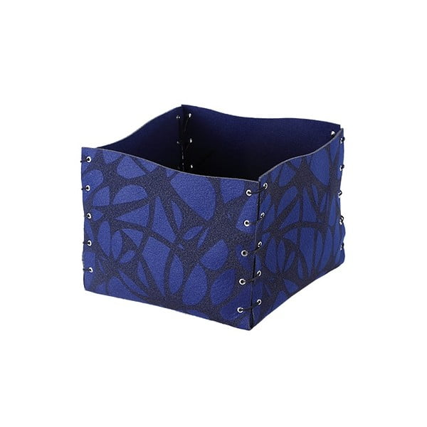 Plstěný obal na květiny 25x20 cm, modrý
