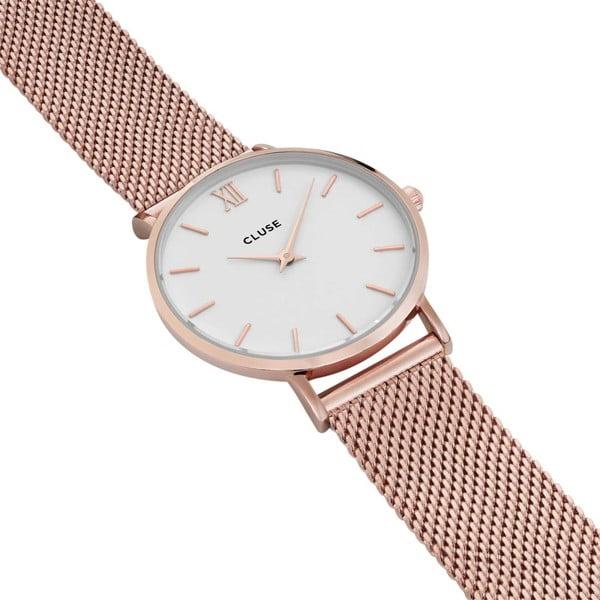 Dámské hodinky z nerezové oceli v barvě růžového zlata Cluse Minuit