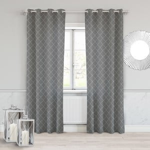 Tmavě šedý závěs Slowdeco Morrocco, 140 x 250 cm