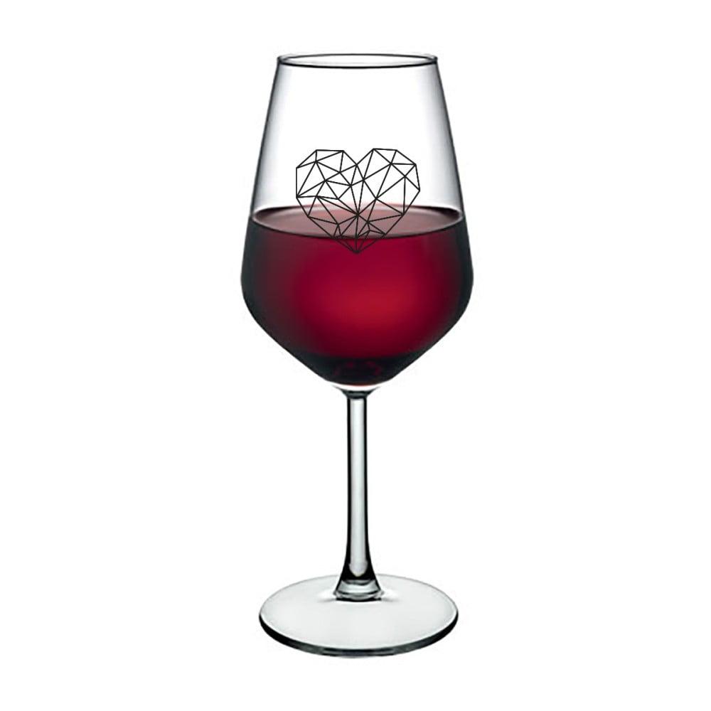 Sklenice na víno Vivas Polygonal Heart, 345 ml