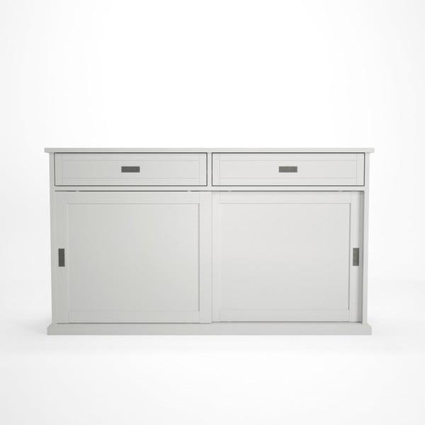 Biała szafka z przesuwnymi drzwiami Artemob Lass