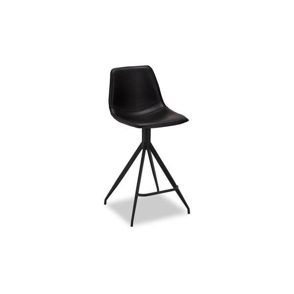 Zestaw 2 czarnych krzeseł barowych Furnhouse Isabel