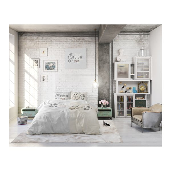 Bavlněné povlečení na dvoulůžko Sleeptime French, 240 x 220 cm
