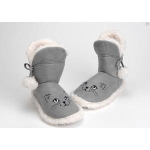Papuče Pompom Cat Grey, vel. 37/38
