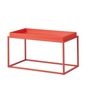 Oranžový kovový konferenční stolek Intersil Club NY