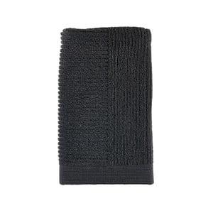 Černý ručník Zone Simple, 50x100cm