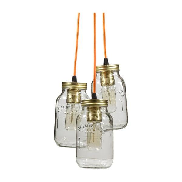 Závěsné světlo JamJar Lights, tři oranžové kabely