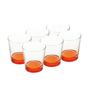 Sada skleniček 340 ml, oranžové