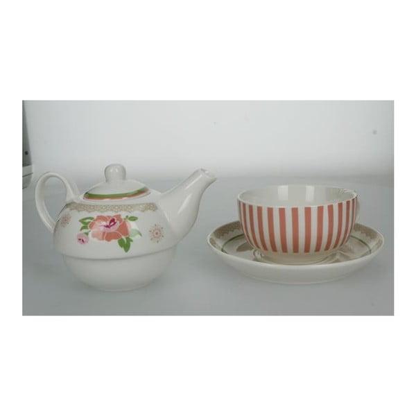Set ceainic și cană cu farfurie din porțelan Brandani
