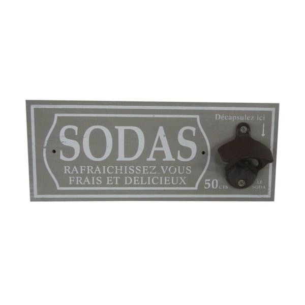 Nástěnný otvírák na lahve Sodas