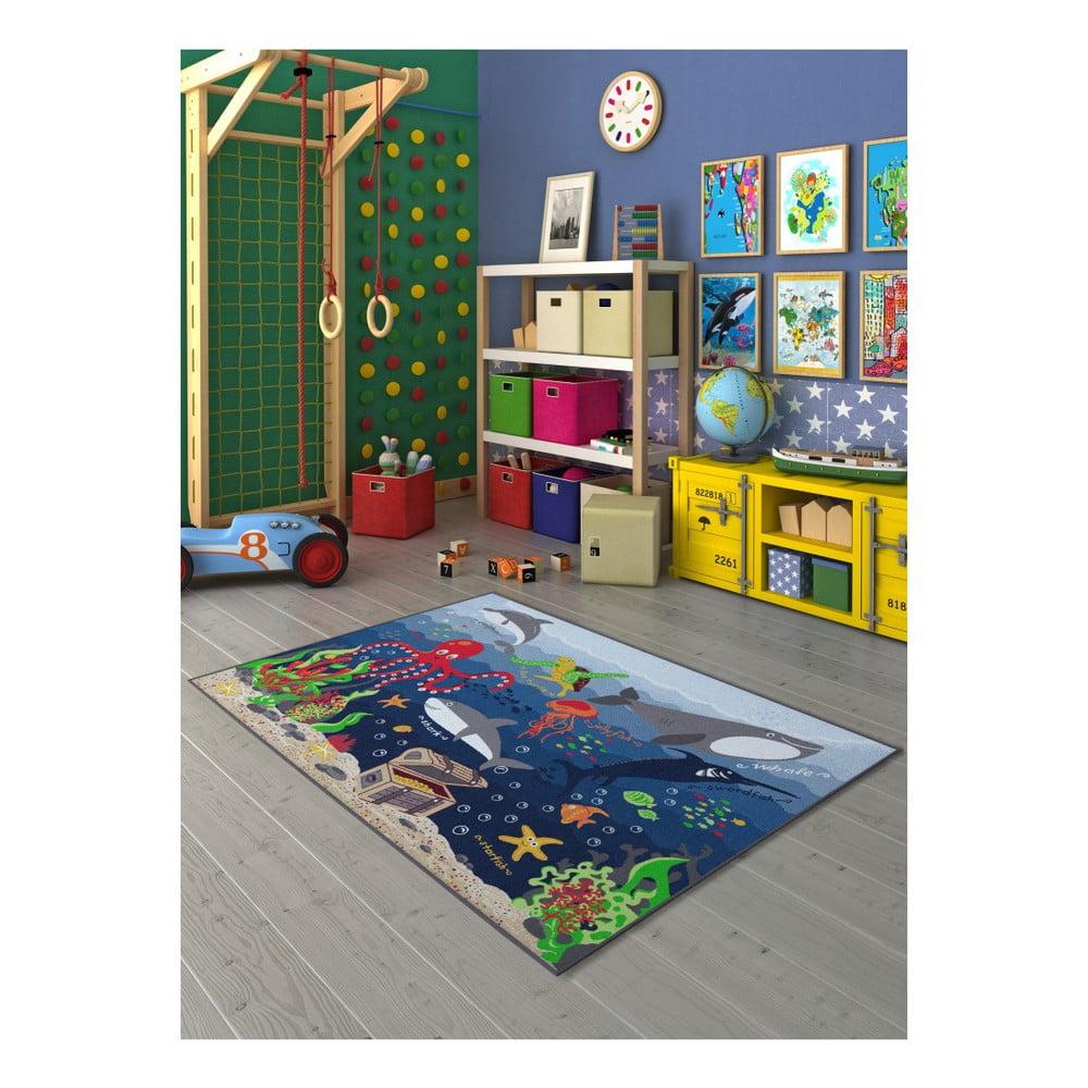 Dětský koberec s motivem podmořského světa, 200 x 290 cm
