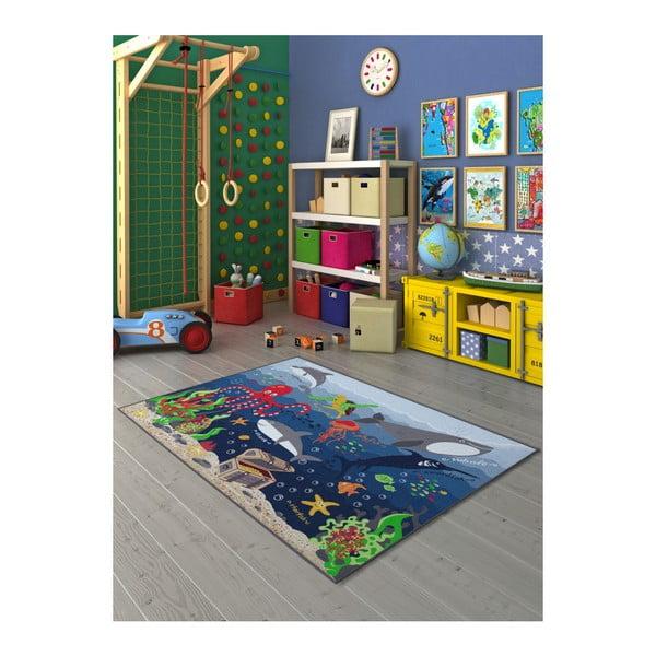 Detský koberec s motívom podmorského sveta, 200 × 290 cm