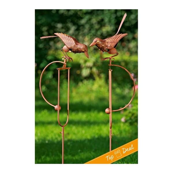 Sada 2 zahradních dekorací Pendulum Bird