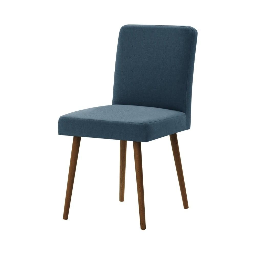 Modrá židle s tmavě hnědými nohami Ted Lapidus Maison Fragrance