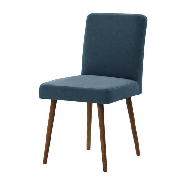 Modrá židle s tmavě hnědými nohami z bukového dřeva Ted Lapidus Maison Fragrance