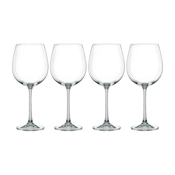 Zestaw 4 kieliszków ze szkła kryształowego Nachtmann Vivendi Premium Bordeaux Komplet, 727 ml