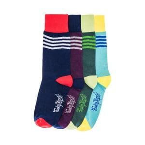 Sada 4 párů ponožek Funky Steps Falsa, univerzální velikost