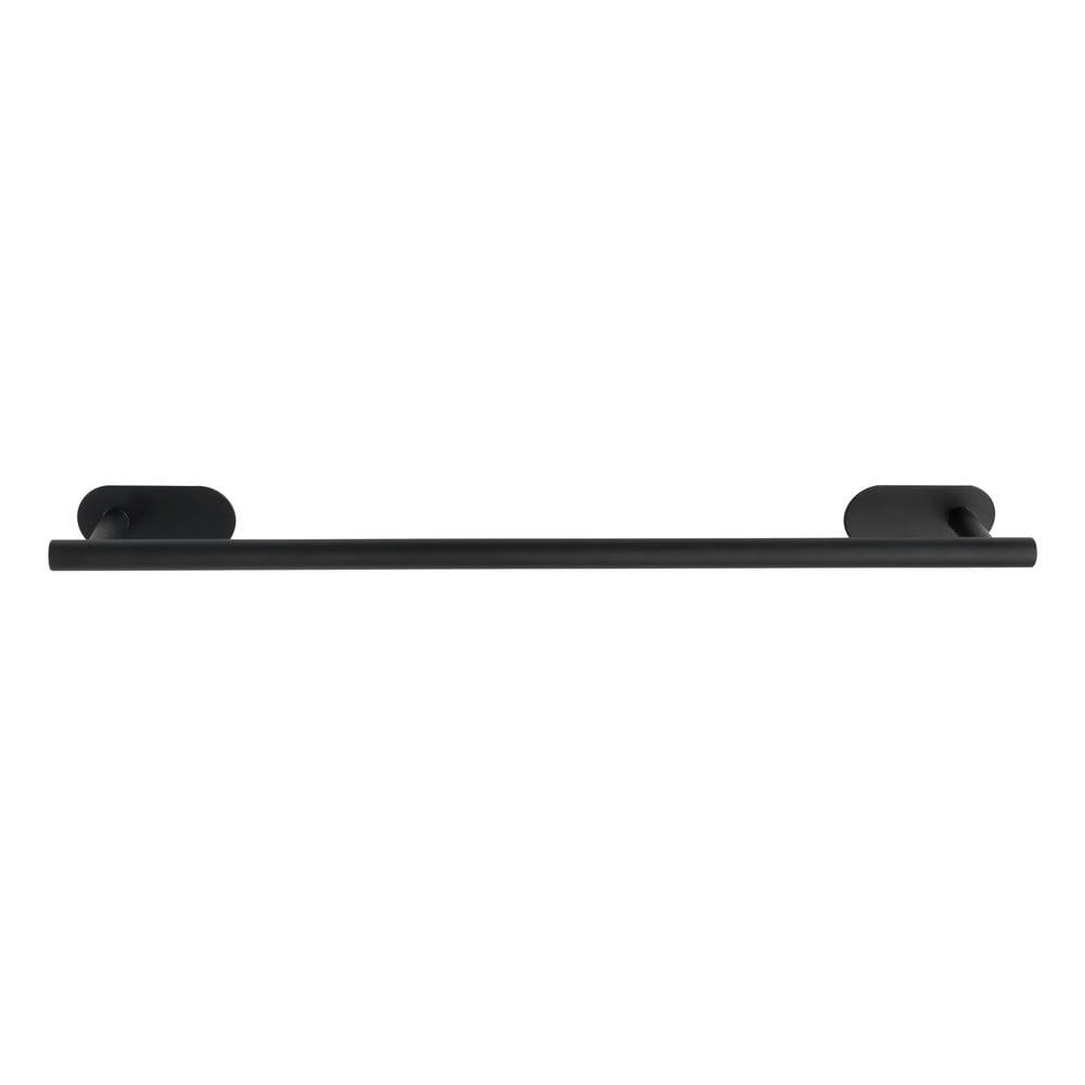Matně černý nástěnný držák na ručníky z nerezové oceli Wenko Orea Rail Turbo-Loc®