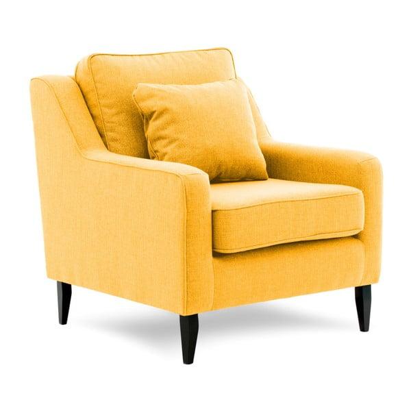 Žluté křeslo Vivonita Bond
