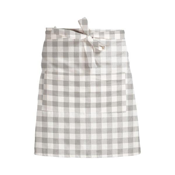Látková zástera Linen Couture Delantal de Lino Grey Vichy