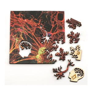 Puzzle Orange Neural Network, 12,7x12,7 cm