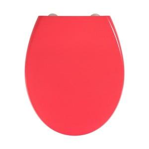 Červené WC sedátko se snadným zavíráním Wenko Samos, 44,5 x 37,5 cm