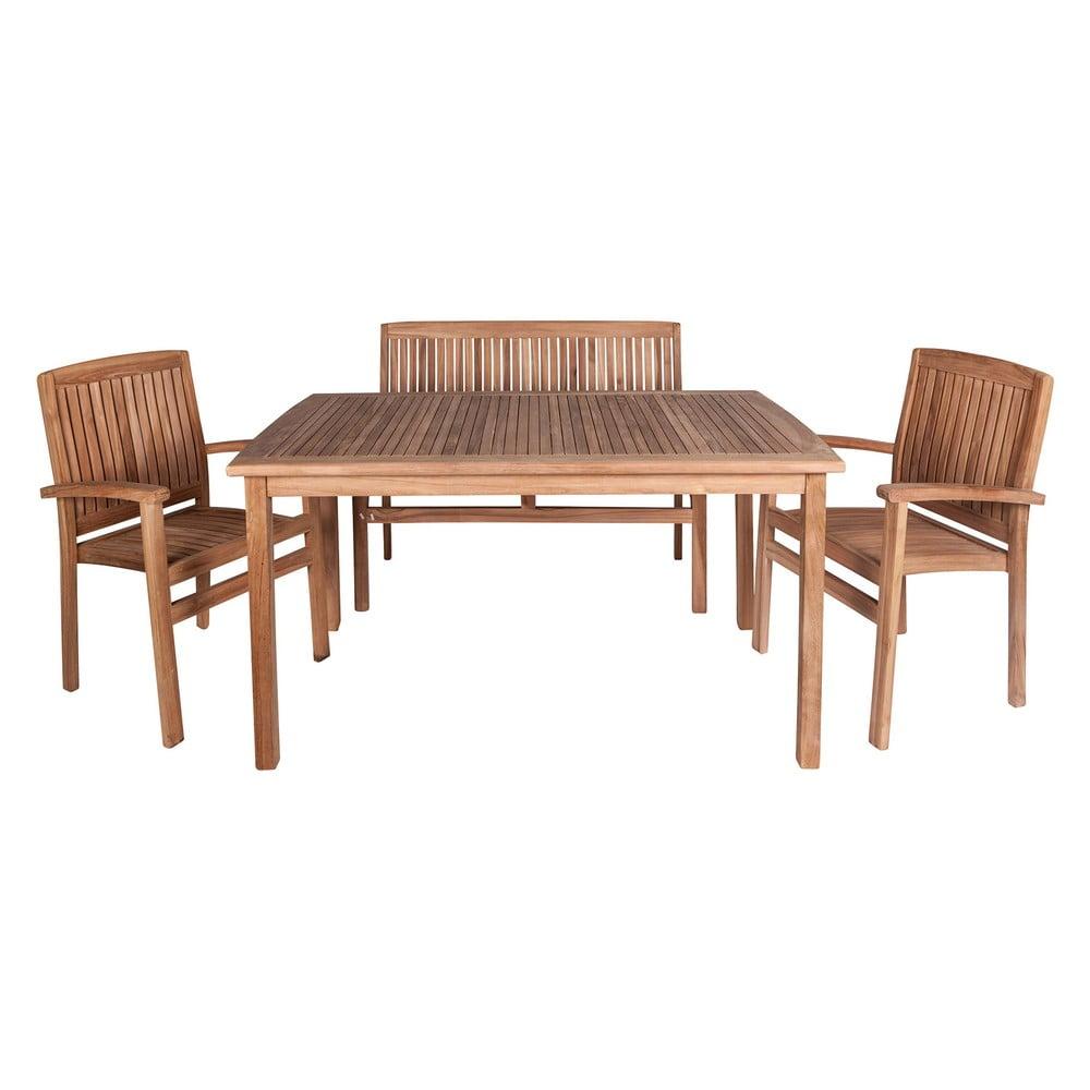 Sada venkovního nábytku z teakového dřeva Crido Consulting Lunch