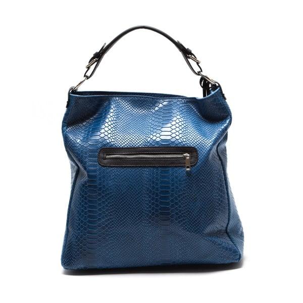 Kožená kabelka Clair, modrá