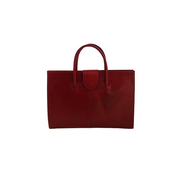 Kožená kabelka Montefalco, červená