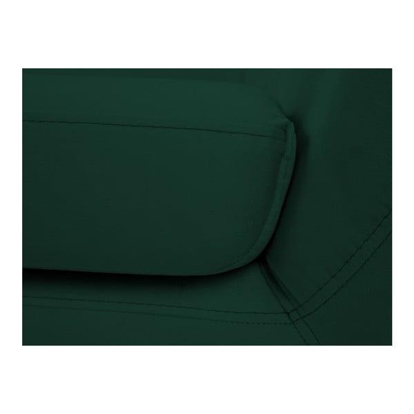 Tmavě zelená dvoumístná pohovka Mazzini Sofas Benito