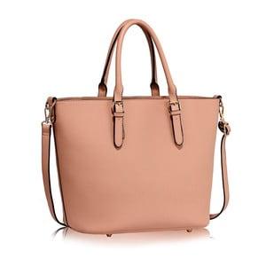 Pudrově růžová kabelka z eko kůže L&S Bags Remaima