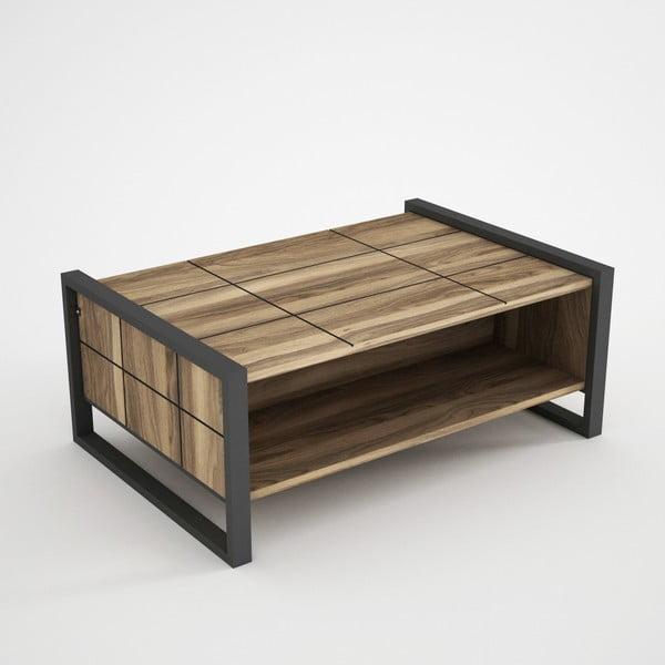 Măsuță în decor de lemn de nuc Lost