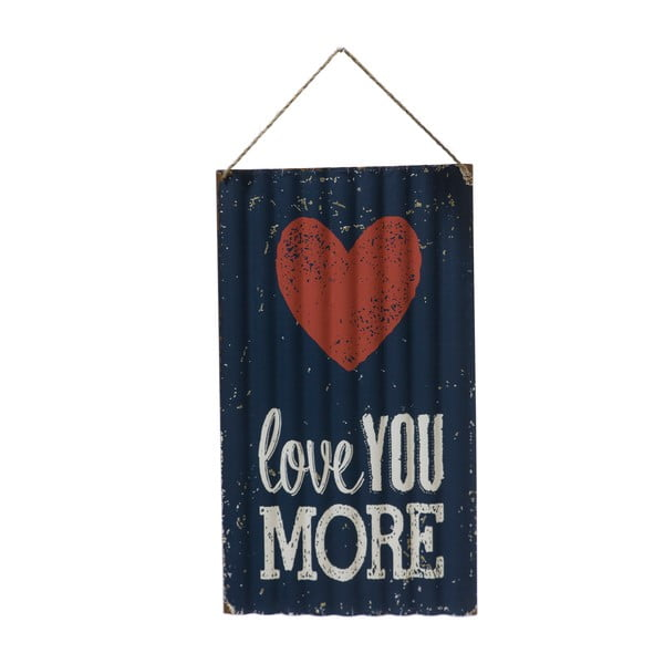 Nástěnná cedule Novita Love You More, 30x50cm