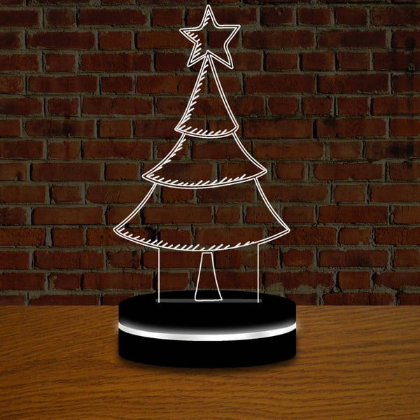 Lampa s 3D efektem Christmas no. 6