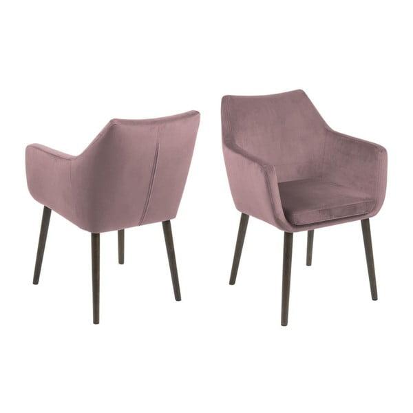 Růžová jídelní židle Actona Nora