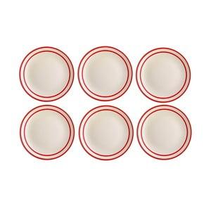 Sada 6 proužkovaných talířů Harlek