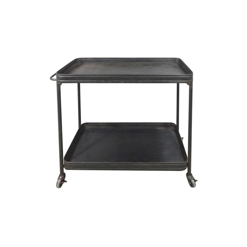 Černý pojízdný servírovací stolek De Eekhoorn Lente
