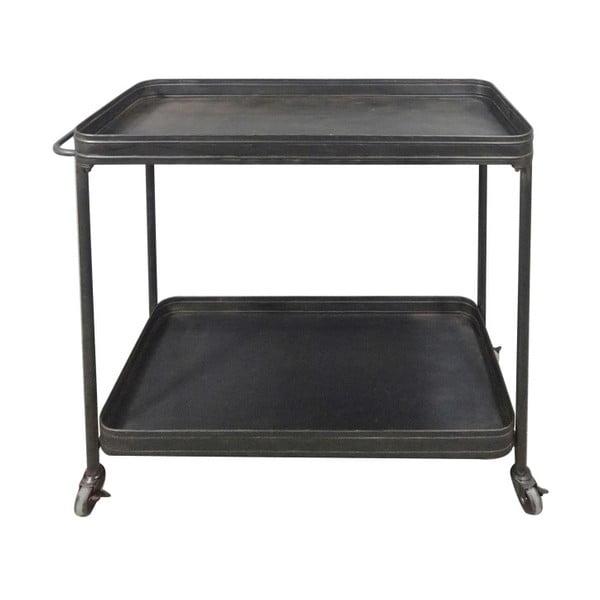 Černý pojízdný servírovací stolek WOOOD Lente