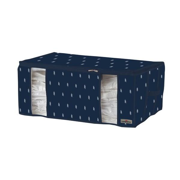 Tamvě modrý úložný box na oblečení Compactor Kasuri, 210 l
